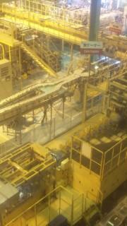 キリンビール工場にて