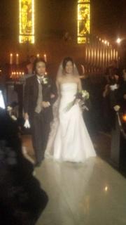 結婚式出席